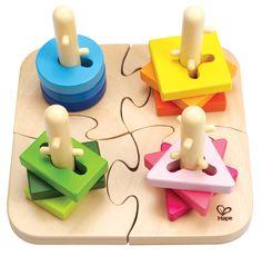 Hape E0411 - Kreatives Steckpuzzle, 16 teilig: Amazon.de: Spielzeug