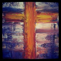 Cross painting on canvas,  Artist: N. Gorišek