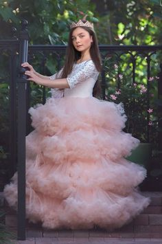 """An Exquisite Ruffled Flower Girl Dres.- """"Carefree Elegance""""… An Exquisite Ruffled Flower Girl Dress """"Carefree Elegance""""… An Exquisite Ruffled Flower Girl Dress - Girls Party Dress, Prom Party Dresses, Birthday Dresses, Pageant Dresses, Baby Girl Dresses, Flower Girl Dresses, Pretty Dresses For Kids, Beautiful Dresses, Kids Gown"""