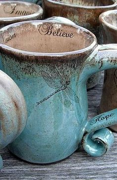 Crop Circle Clay - Inspiring Earthy Spiritual click the image for more details. Pottery Mugs, Ceramic Pottery, Pottery Ideas, Ceramic Cups, Ceramic Art, Home Decor Accessories, Decorative Accessories, Crackpot Café, Dragonfly Art