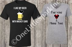 Mickey Beer // Minnie wine food and wine festival // epcot food and wine disney drinking shirt disney drink