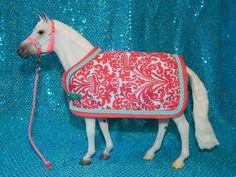 Damask Blanket & Halter Set for Traditional Size Model or Breyer Horse