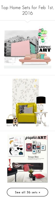 """Top Home Sets for Feb 1st, 2016"" by polyvore ❤ liked on Polyvore featuring interior, interiors, interior design, home, home decor, interior decorating, Fatboy, Bobby Berk Home, graphicart and Vitra"