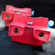(2) Vintage Gaf 3D View-Masters 1970s 1980s Red White Blue Handle Viewmaster #Gaf