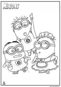 27 Best Minions Coloring Pages Free Images On Pinterest