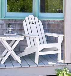 The Adirondack Chair -A Summer Classic. Shopping Sources: http://www.completely-coastal.com/2009/07/adirondack-chair-from-mountains-to.html