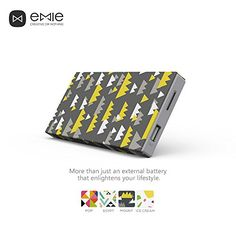 EMIE Memo *Just Shake it!* 10000mAh Ultra-thin 12mm for Mobile Devices (Mountains) #Emie #Powerbank