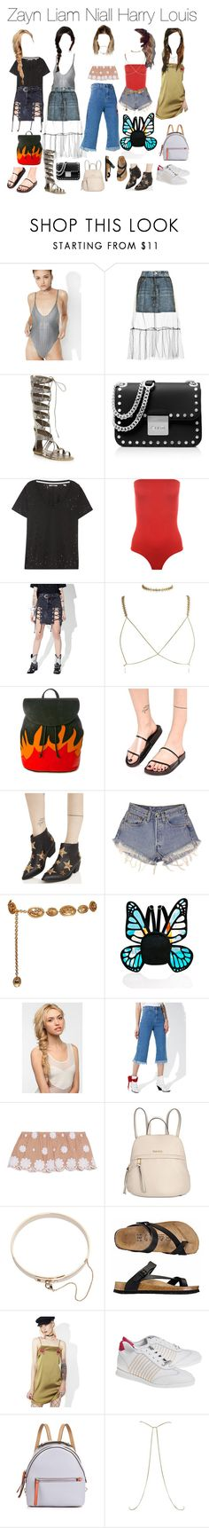 """""""Coachella day 3"""" by princess99beatriz ❤ liked on Polyvore featuring Jaded, Topshop, Ivy Kirzhner, MICHAEL Michael Kors, J Brand, WearAll, American Vintage, N.Y.L.A., Chinese Laundry and Levi's"""