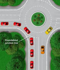 Learning roundabouts for the driving test, dealing with, approaching and how to drive on roundabouts in the UK including indicating and safety Driving Test Tips, Driving Theory Test, Car Cleaning Hacks, Car Hacks, Drivers Permit Test, Driving Instructions, Rv Truck, Learning To Drive, Driving School
