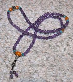 Amethyst Mini Mala Bracelet or Necklace - Healing and Wisdom