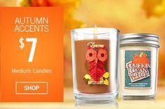 Autumn Accents - $7 Medium Candles - SHOP