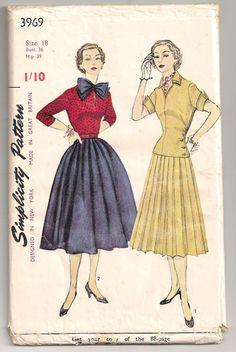 1950s Simplicity Dress Pattern