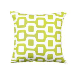 20 X 20 Geometric Chartreuse Throw Pillow Cover by BHDecor on Etsy, $25.95