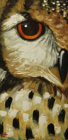 Owl - Whimsical Fine Art by Roz