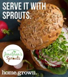 Sprouts, like the ones we source from Jonathan's in Massachusetts, are a tasty addition to sandwiches and bagels! Bagels, Massachusetts, Sprouts, Sandwiches, Artisan, Tasty, Chicken, Recipes, Food