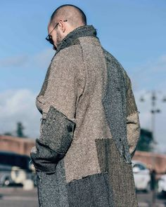 Patchwork coat  #patch #menswear #fashion #mode #style