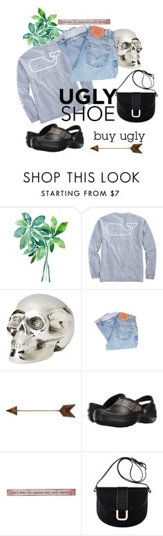 """""""Ugly Shoes - Don't mind !"""" by consuelor ❤ liked on Polyvore featuring Vineyard Vines, Jan Barboglio, Levi's, WALL, Crocs, Natural Life, A.P.C., uglyshoes and crocs"""