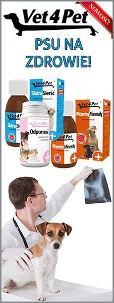 Preparaty prozdrowotne Vet4Pet - w płynie i tabletkach.