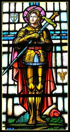 ┆ St Joan of Arc ┆ More christians pins in my boards Joan D Arc, Saint Joan Of Arc, St Joan, Stained Glass Church, Stained Glass Art, Stained Glass Windows, Leaded Glass, Catholic Art, Religious Art