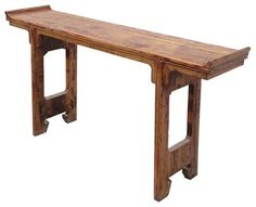 Chinese Narrow Rustic Raw Wood Altar Console Table contemporary side tables and accent tables Narrow Hallway Table, Narrow Console Table, Entryway Tables, Dining Table, Contemporary Side Tables, Rustic Coffee Tables, Raw Wood, Room Chairs, Furniture Design