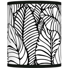 Giclee Glow Tropical Leaves Giclee Shade 10x10x12 (Spider) ($70) ❤ liked on Polyvore featuring home, lighting, black, lamp shades, black lampshade, black shades, black finials, colored lamps and black lamp shade