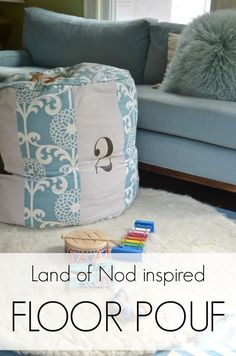 How to make this land of nod inspired floor pouf