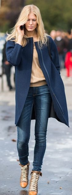 There are a bunch of collarless ideas on here. I'm not in any rush to get a winter coat, but overall collarless blazers and coats are an interest.