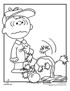 Charlie Brown Christmas Coloring Sheets | Charlie Brown Christmas Coloring Pages Charlie Brown ... | Christmas