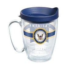 Tervis Navy Pride 16 Oz. Wrap Mug With Lid Clear
