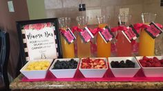 Kate spade theme bridal shower mimosa bar!