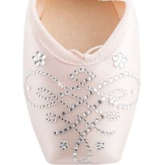 Hand Decorated Pointe Shoe Silver ($58) ❤ liked on Polyvore featuring home, home decor, dance shoe, silver home decor and silver home accessories