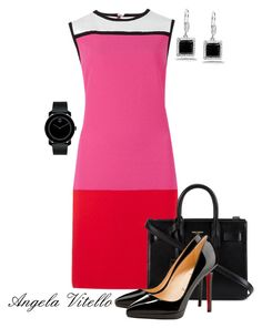 Untitled #554 by angela-vitello on Polyvore featuring polyvore, fashion, style, M&S, Christian Louboutin, Yves Saint Laurent, Kobelli, Movado and clothing