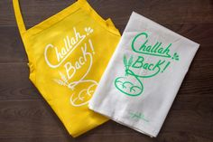 Rosh Hashanah Giveaway!! Enter to win a challah back apron and tea towel.