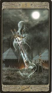 Seven of Swords image from The Ghost Tarot