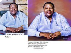mike adenuga compare with picture ayeola ayodeji 1024x761 Mike Adenuga portrait painting by Ayeola Ayodeji: http://awizzy.net/mike-adenuga-portrait-painting-by-ayeola-ayodeji/