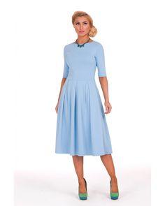 Голубое платье 2016 (96 фото): с чем носить, макияж, в пол, длинное, нежно-голубое, небесно-голубое