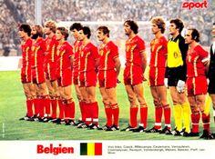 EQUIPOS DE FÚTBOL: SELECCIÓN DE BÉLGICA contra Francia 09/09/1981