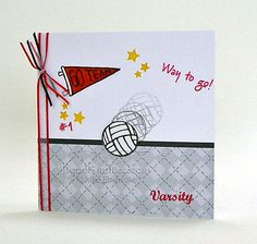 Go, Varsity Volleyball! by JulieHRR - Cards and Paper Crafts at Splitcoaststampers