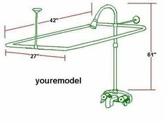 How to Measure Rod Size for Clawfoot Tub Bathtubs Pinterest