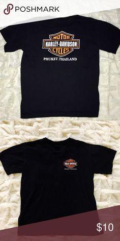 Harley-Davidson Vintage Tee T-shirt! Harley-Davidson Vintage Tee T-shirt! Great for DIY   Phuket Thailand  # Distressed # Nascar # Harley Davidson # LF # Vintage # 90's # Rock & Roll # Chevy # American Made # Band # Concert # Furst of a Kind # Oversized # Unisex Harley-Davidson Shirts Tees - Short Sleeve