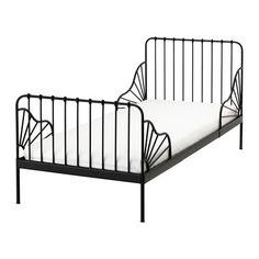 IKEA - MINNEN, Struct lit ext av sommier à lattes, , Extensible, le lit peut être rallongé pour suivre la croissance de l'enfant.