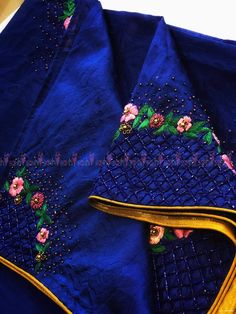 Image may contain one or more people – Artofit Simple Blouse Designs, Blouse Designs Silk, Bridal Blouse Designs, Maggam Work Designs, Clothes Crafts, Hand Designs, Indian Designer Wear, Embroidery Blouses, Embroidery Stitches