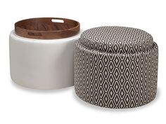 Our American Walnut + Ash Collection takes on our ever-popular Uno storage ottomans series and offers two different beautiful wood options, Natural Walnut and Gray Ash. Otis is available in round or cube, but either way, the upholstered top flips to reveal an exquisite wood tray. The storage space underneath is the perfect catch-all for small items you want out of the way, and the casters make it easy to roll Otis where you need him most.
