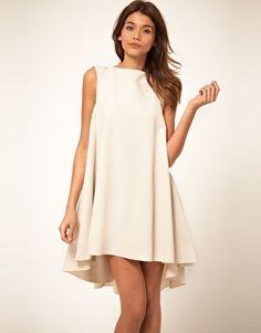 ASOS Swing Dress with Dipped Hem - StyleSays