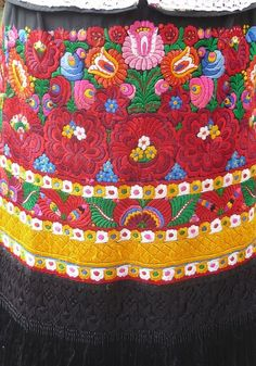 Hungarian detailed Matyo embroidery ~ apron.
