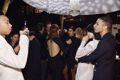 Pin for Later: La Famille Kardashian Jenner Vole la Vedette à Olivier Rousteing Lors de Sa Soirée D'anniversaire Tyga, Kylie Jenner, et Olivier Rousteing