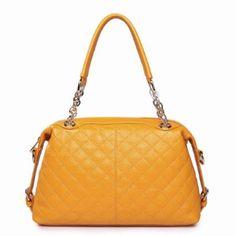 1bcbfde66 Bolsa Para Dama Color Amarilla De Piel 34x19x11 en Mercado Libre México