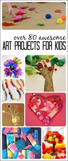 An amazing collection of art ideas for kids to try this year!