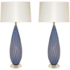 Pair of Vintage Murano Lamps in Lavender Opaline ($5,500) ❤ liked on Polyvore featuring home, lighting, murano lighting, murano lamp, vintage light shade, vintage lampshade and vintage lighting
