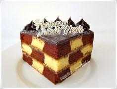 Anncoo Journal: Torta de chocolate Checkerboard